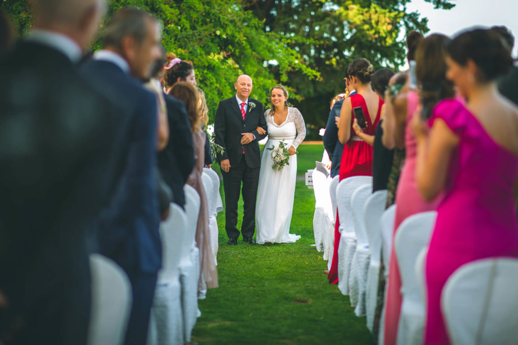 outdoor wedding party in villa mocale san casciano florence