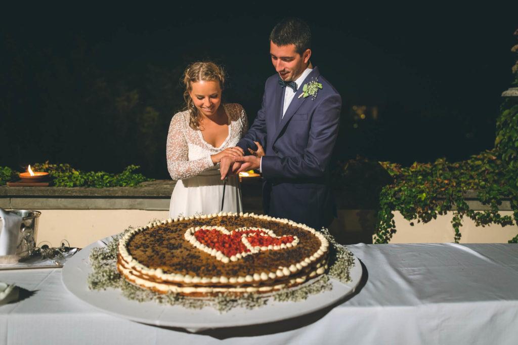 wedding cake in villa mocale san casciano florence